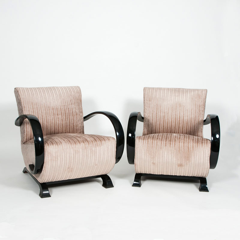 A pair of Art Déco armchairs