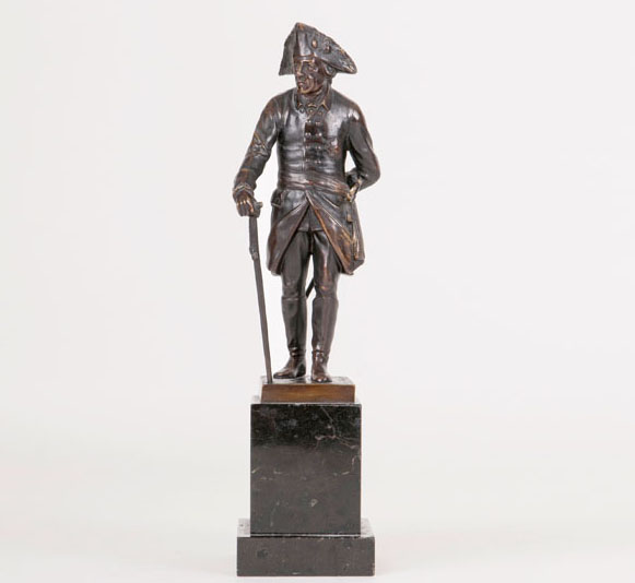 A bronze sculpture 'Frederick the Great'