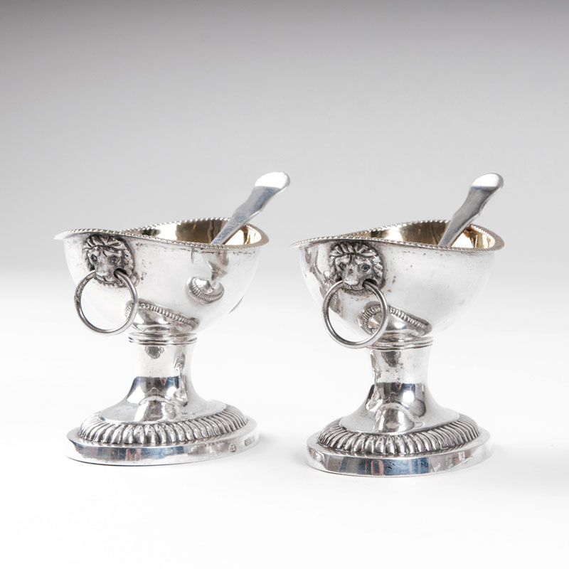 A pair of salières in empire style