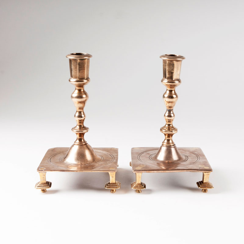 A pair of spanish baroque candlesticks