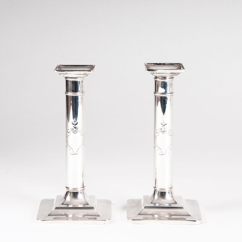 A pair of candleholders by Tiffany & Co