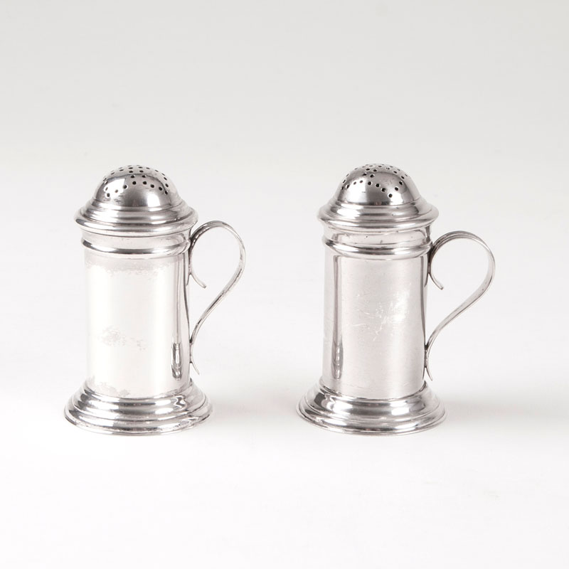 A pair of Victorian salt and pepper castors