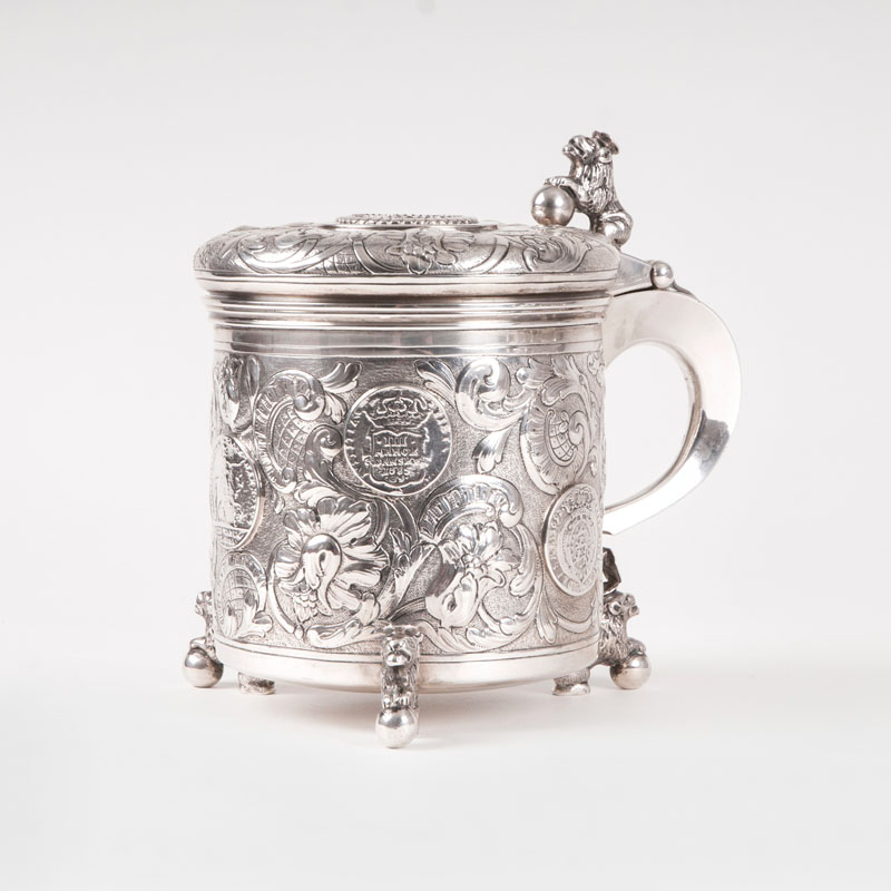 A magnificent beaker with rich Baroque decoration