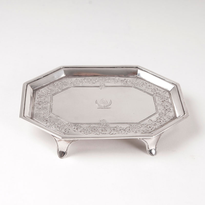 A Georgian tray for business cards