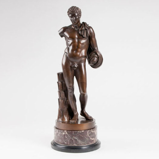 A bronze sculpture 'Narcissus'