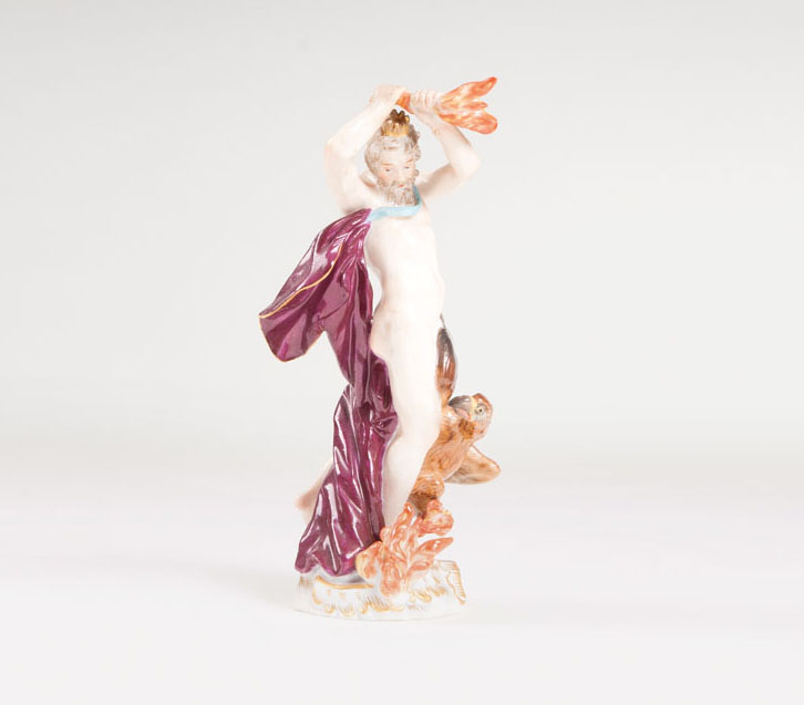 A porcelain figure 'allegory of fire'