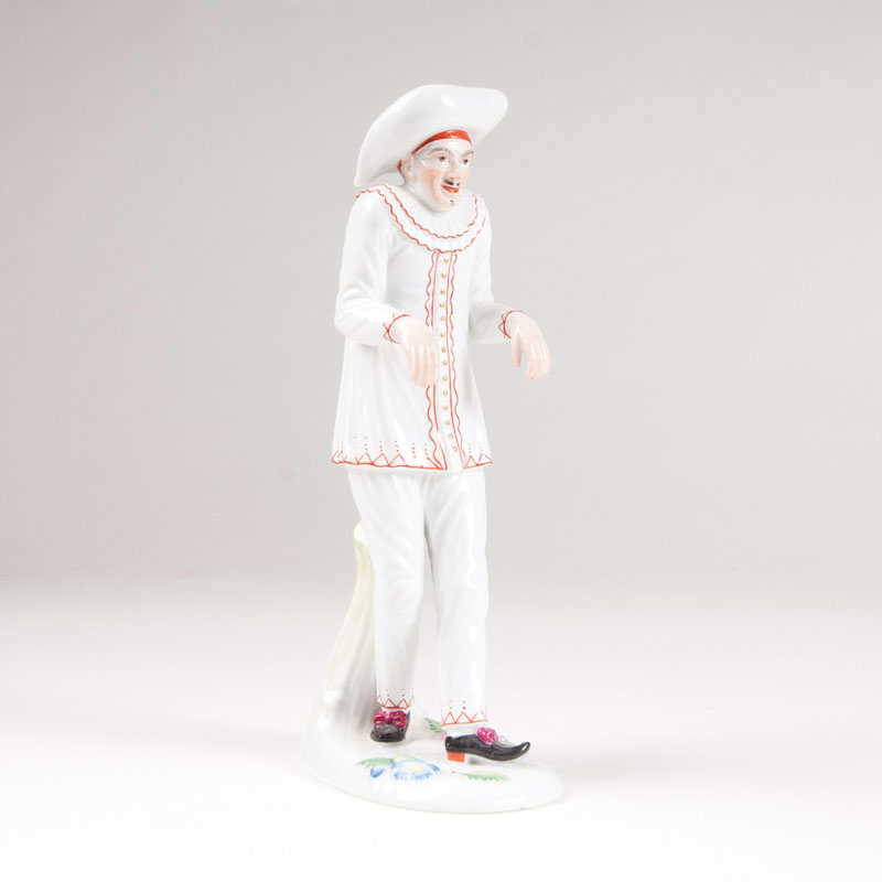 A porcelain figure 'Scaramuz' from the 'Italian Comedy'