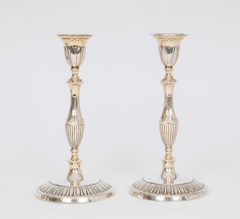 A pair of classical candlesticks