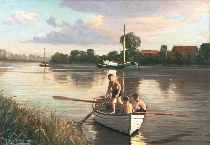 Boys in a Boat on the Elbe