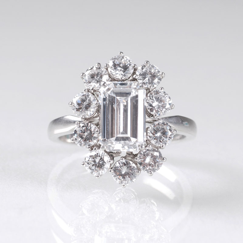 An extraordinary and high-grade solitaire diamond ring