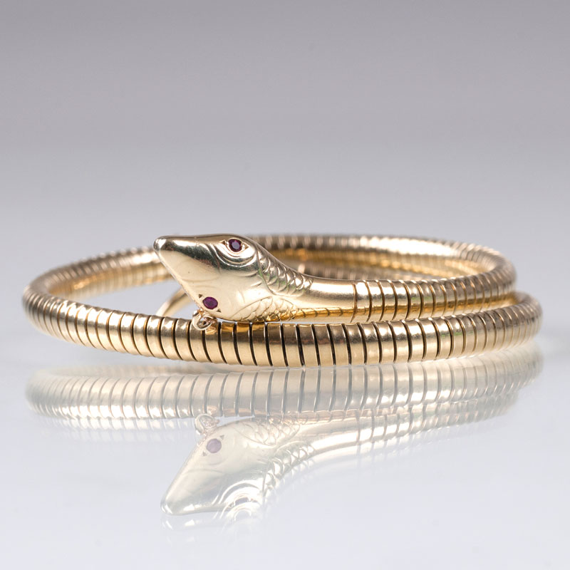 A golden bangle bracelet 'Snake'