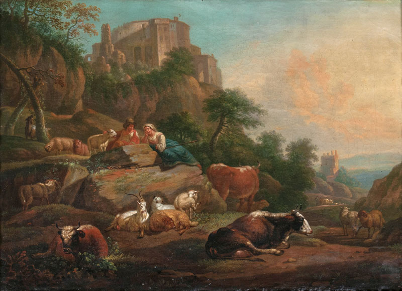 Southern Landscape with Herdsmen and Flock