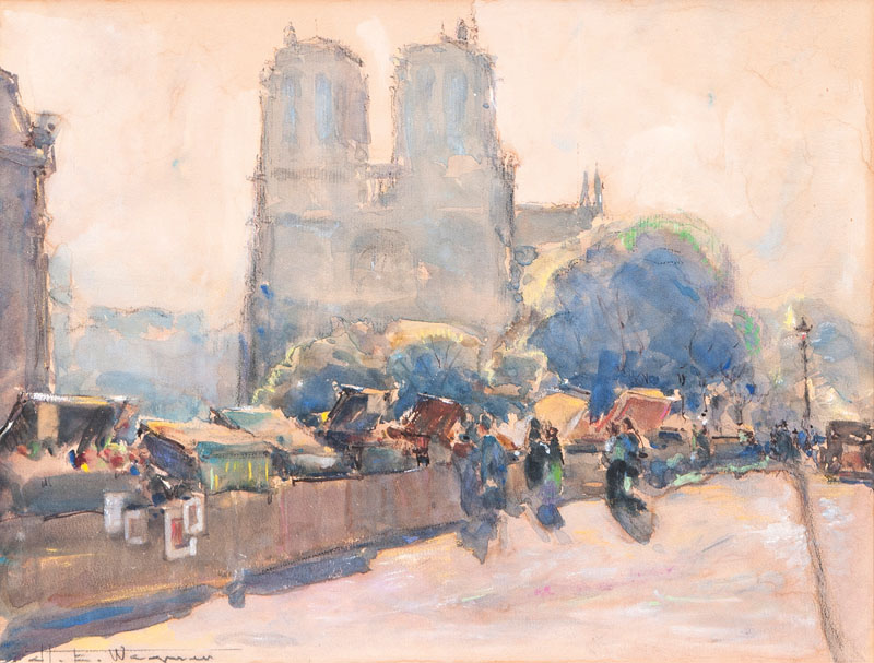 Quai des Bouqinistes with Notre Dame in Paris