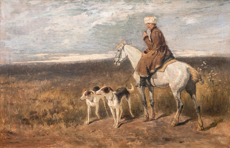 Rider with Barzois