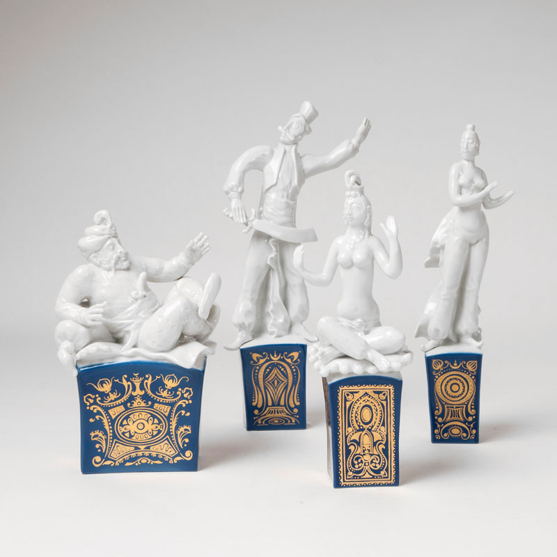 A set of 4 figures from 'Thousand and one Nights'