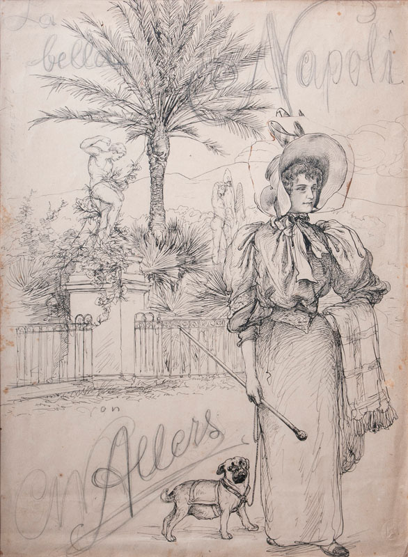 Sketch for the Title of 'La bella Napoli'