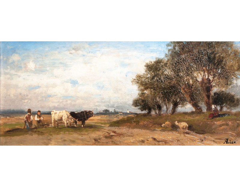 Landscape with Team of Oxens