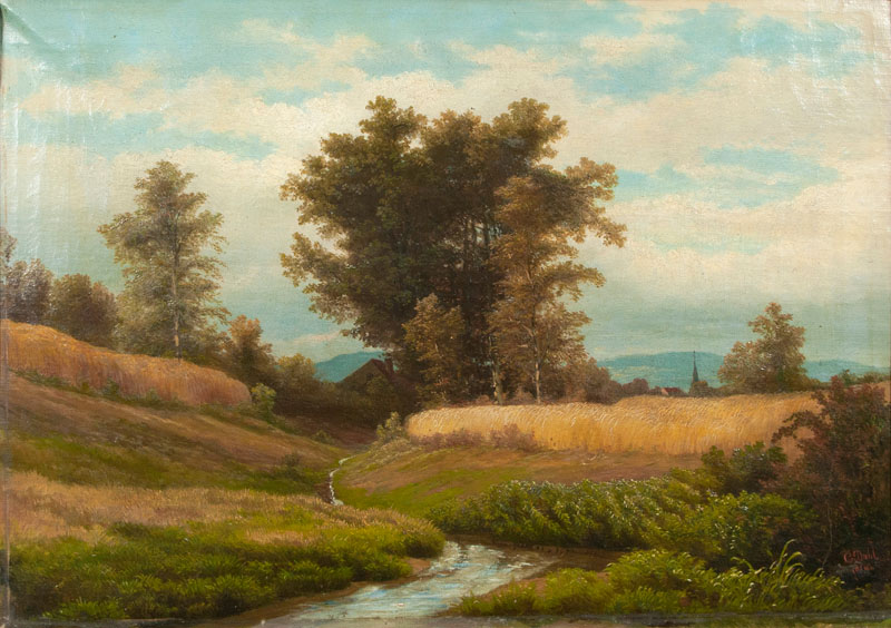 Summer Landscape with Creek