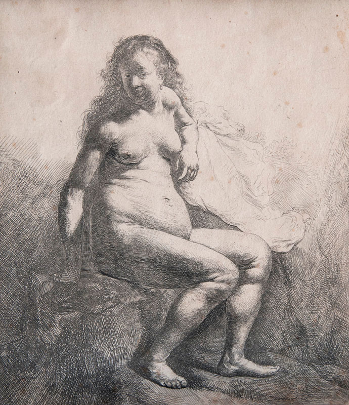 Nude Woman seated on a Mount