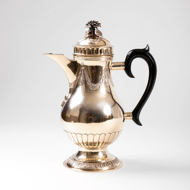 A gilded Louis Seize coffee pot