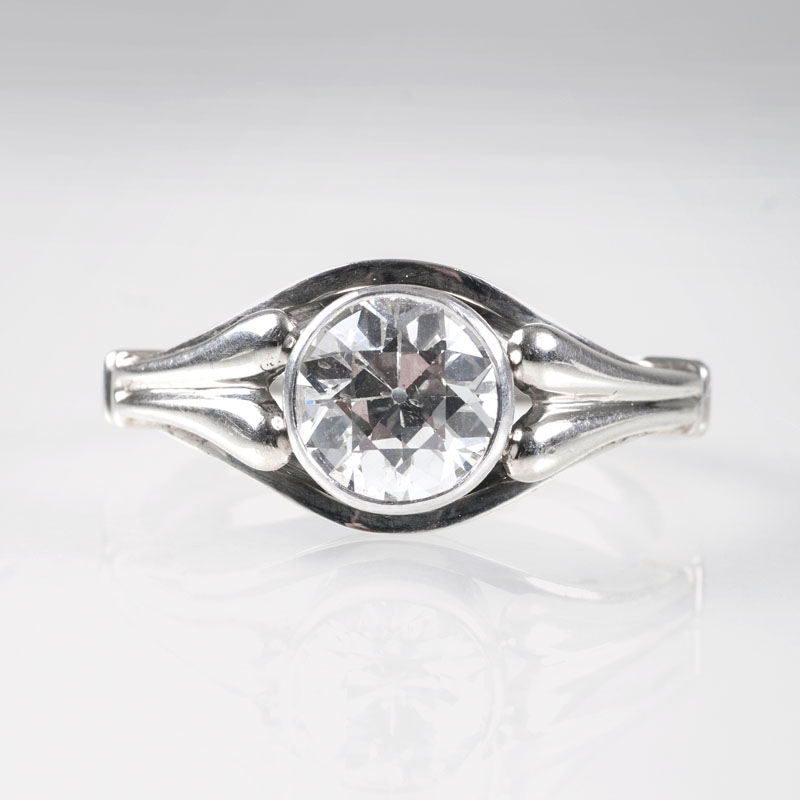 A ring with old cut diamond