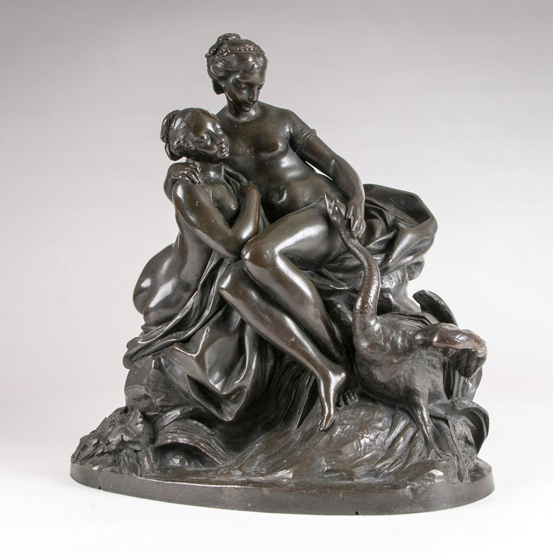 A bronze sculpture 'Leda and the swan'