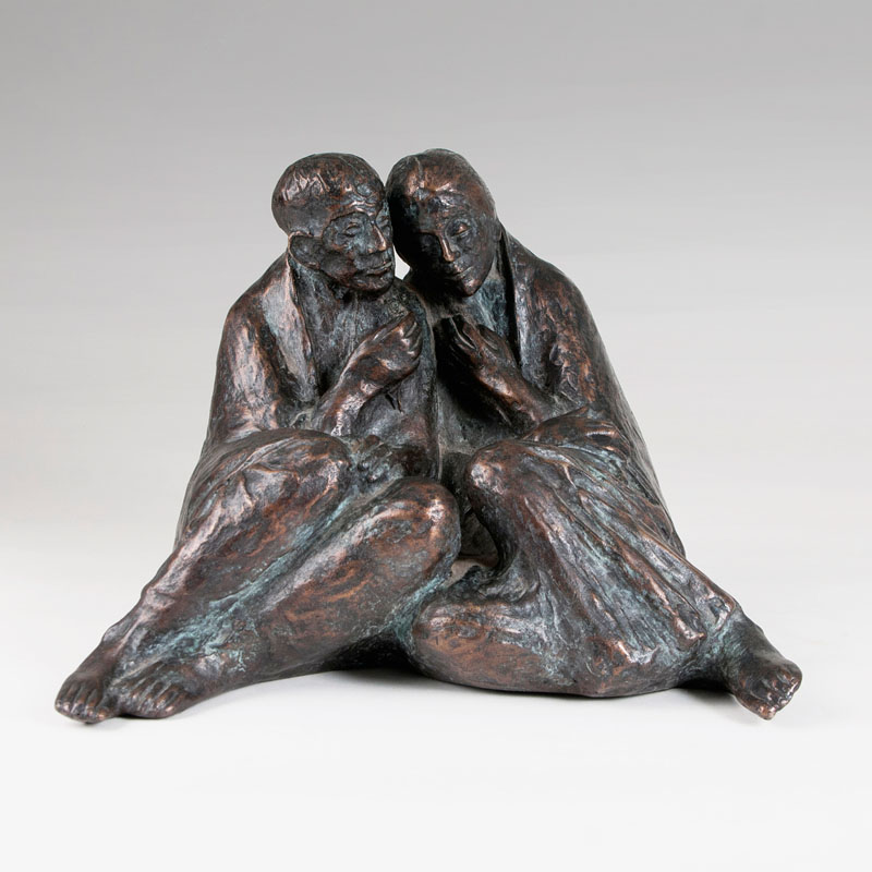 A bronze sculpture 'Philemon and Baucis'