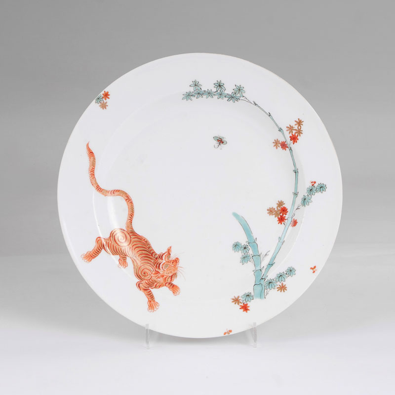 A plate with the red lion from the Japanese Palace