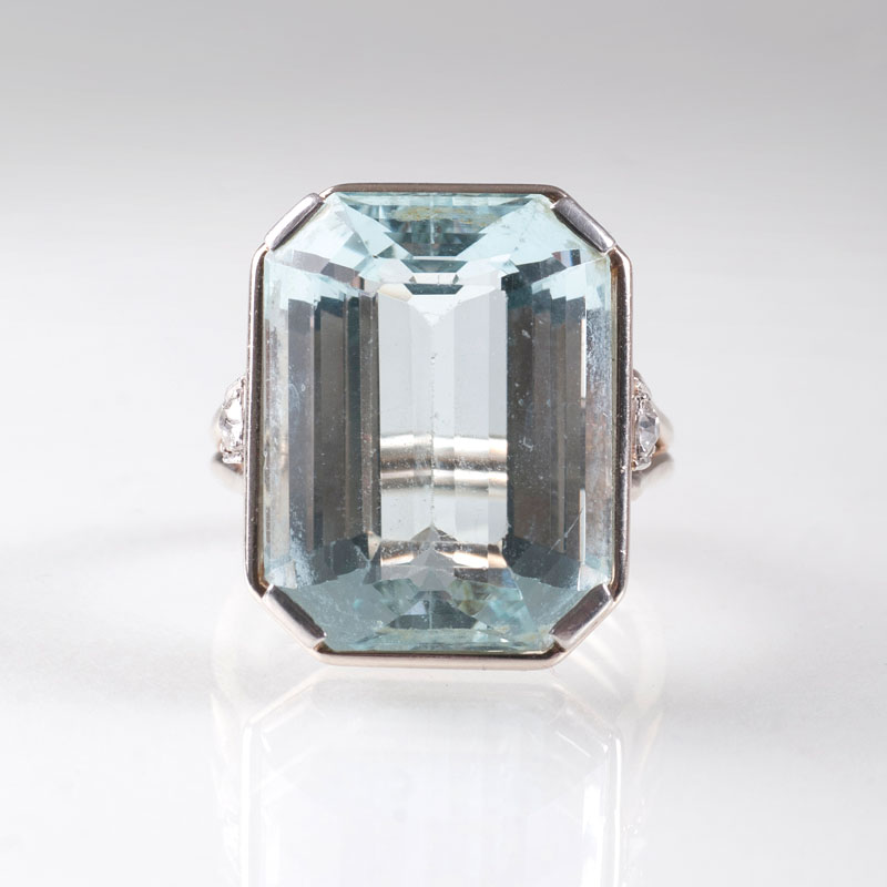 A fine aquamarine ring