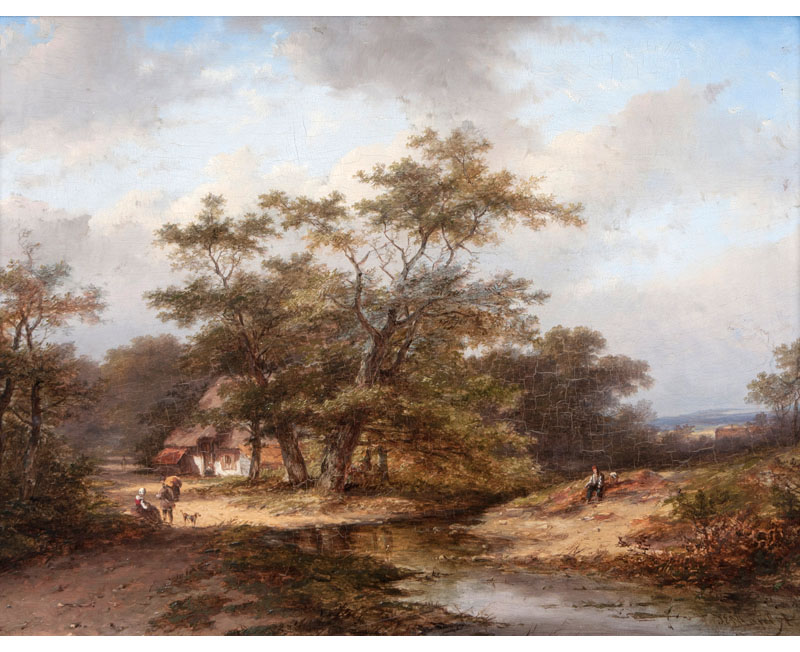 Landscape with Hamlet by a Creek