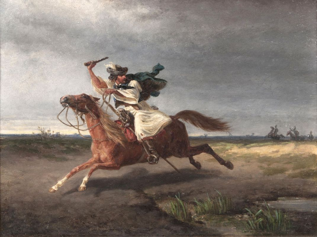 Highwayman escaping