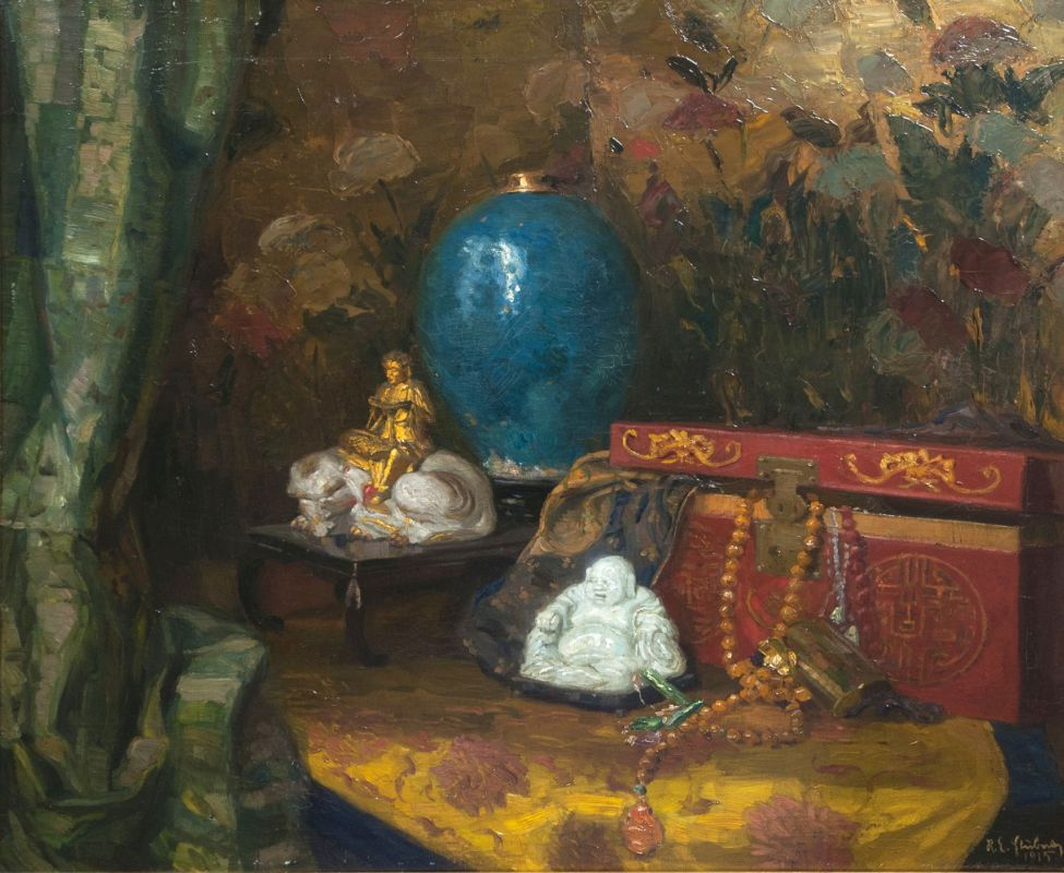 Still Life with Asian Objects of Art
