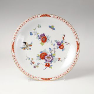A large plate 'Indian flower with bird'
