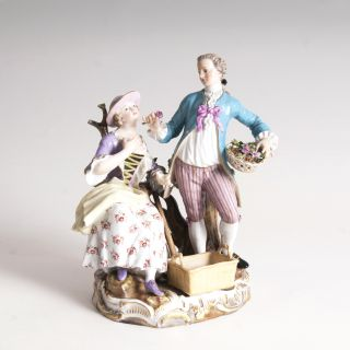 A porcelain group 'Pair of Gardeners'