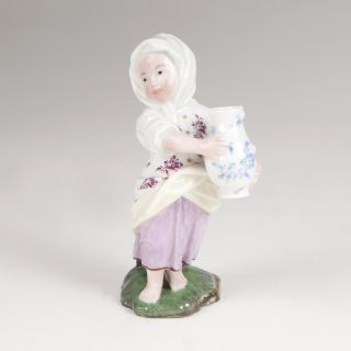 A porcelain figure 'Girl with a vessel'