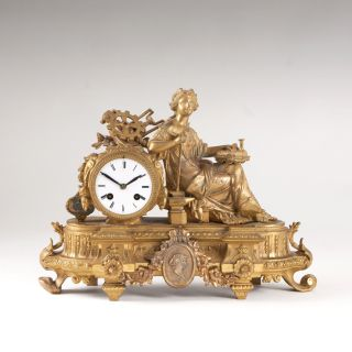 A Napoleon III mantelclock with Allegory of the Industrial Era