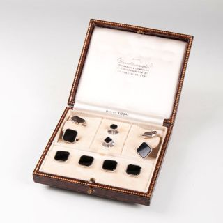 A classical tailcoat button set with onyx