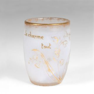 An Art Nouveau miniature vase with lillies of the valley
