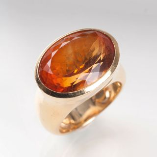 A modern citrine ring by Botho Nickel
