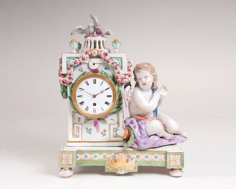 A Meissen Marcolini-clock with Cupid