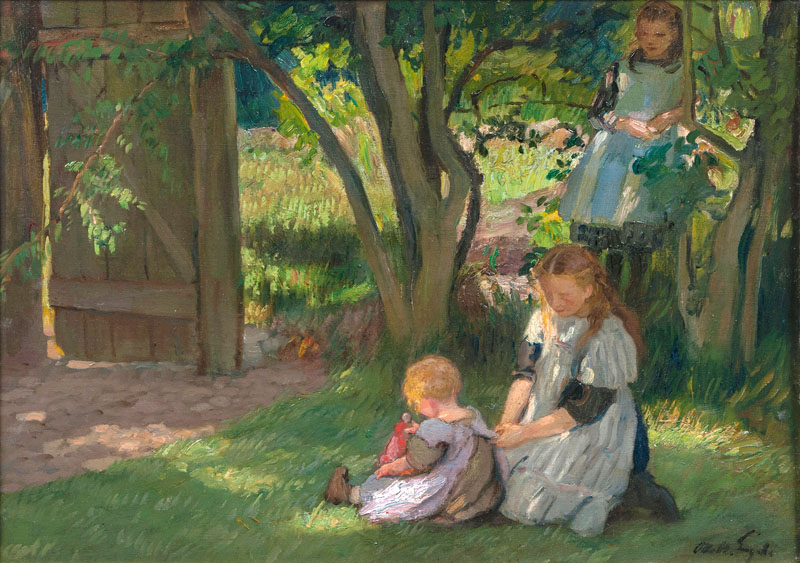 Three Girls in a Garden