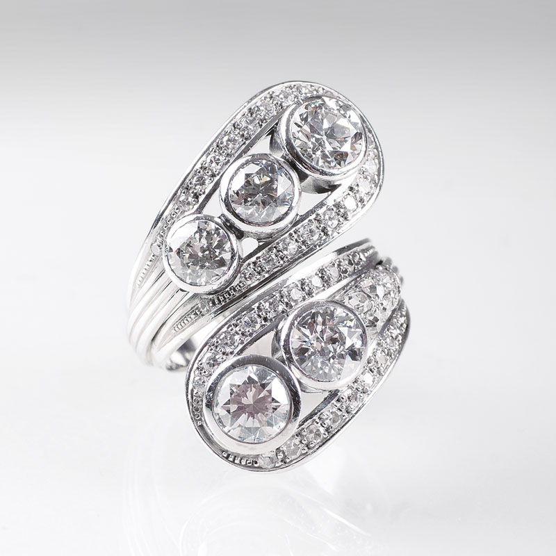 A highcarat Vintage diamond ring