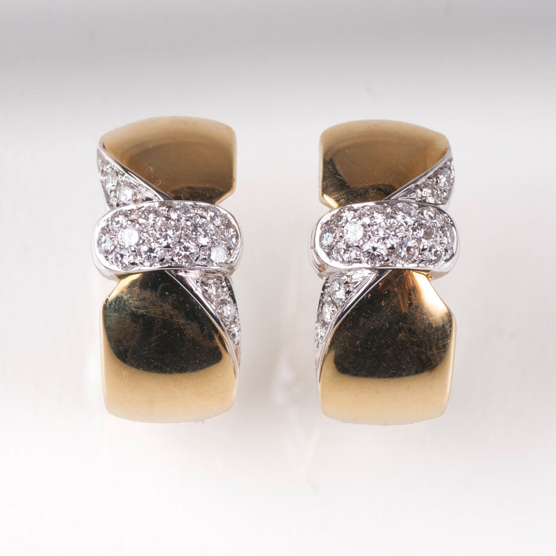 A pair of Vintage diamond earrings by Leo Pizzo