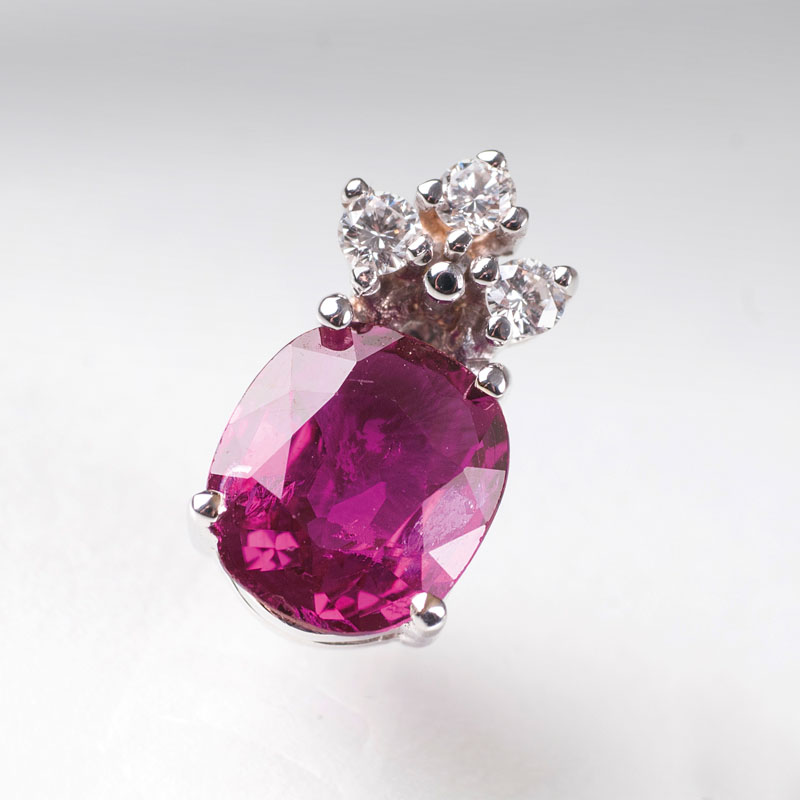 A ruby diamond pendant