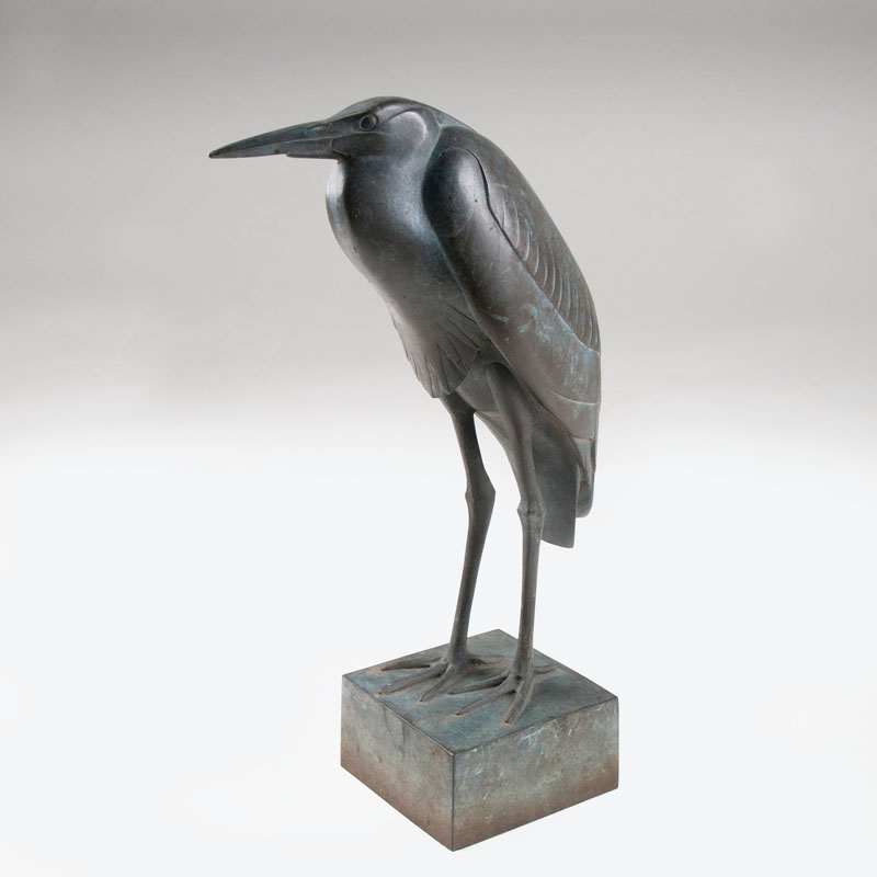 A bronze sculpture 'Heron'
