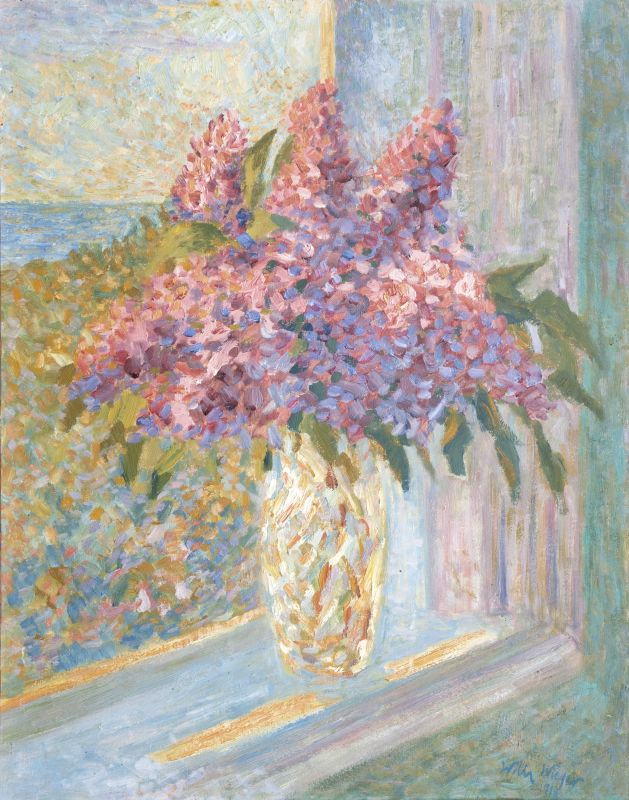 Flowers by a Window