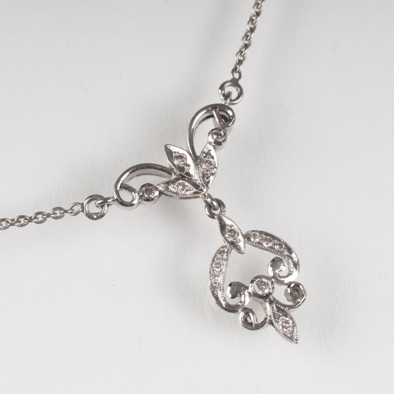 A petite diamond necklace