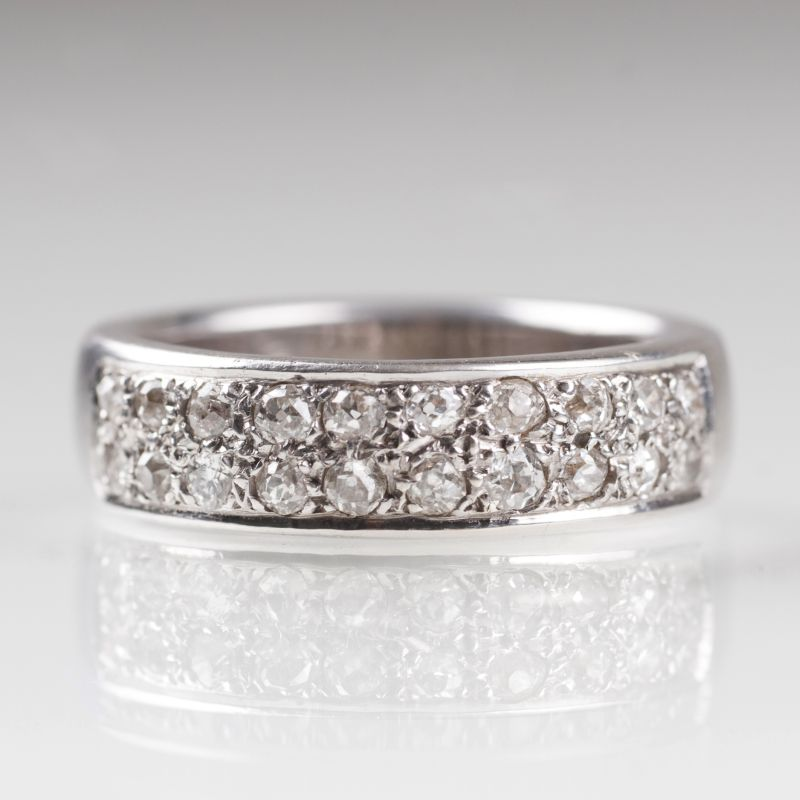 A ring with old cut diamonds