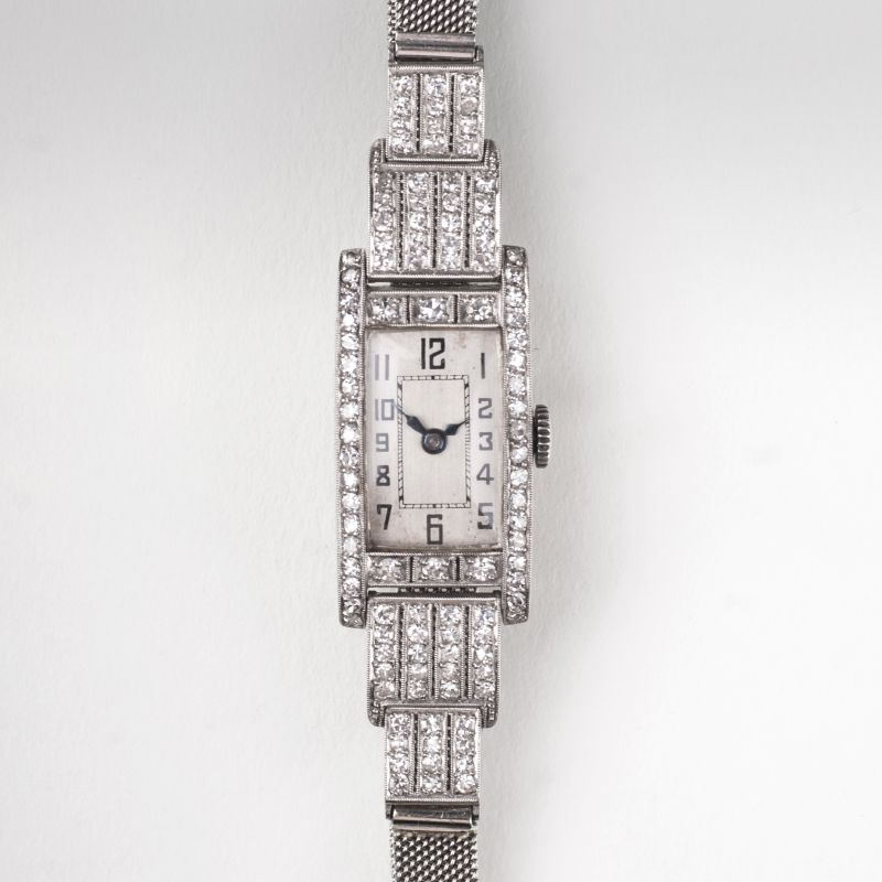 An Art Déco ladie's watch with diamonds