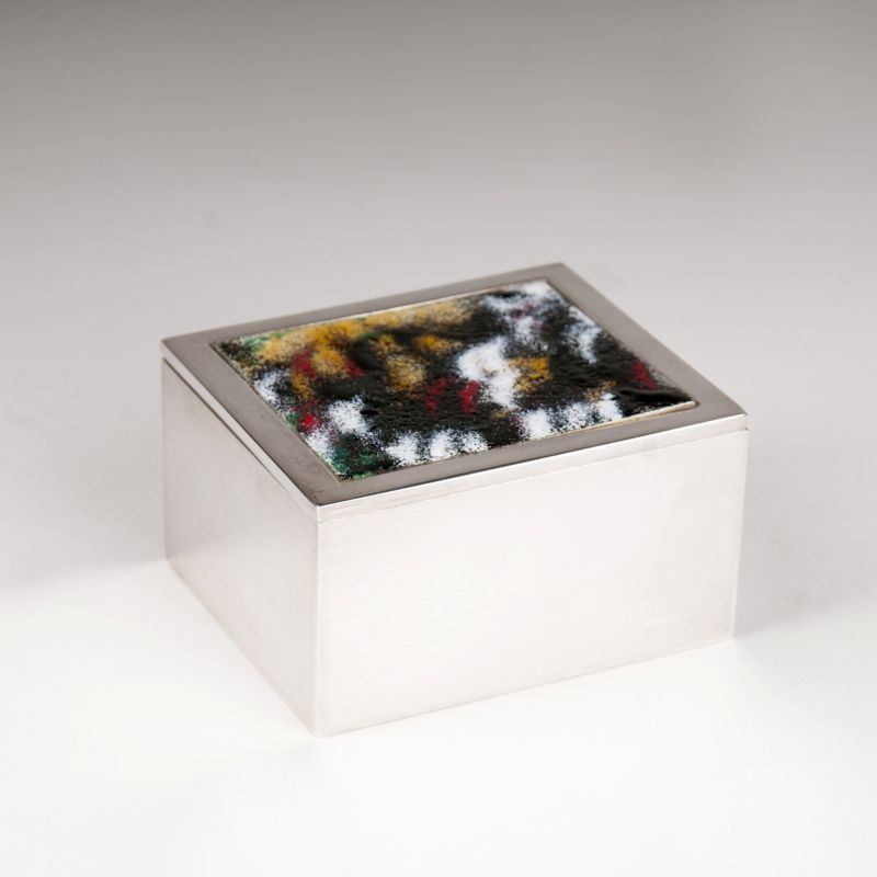 A special lidded box with enamel decor